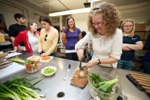 Students participate in a healthy cooking program